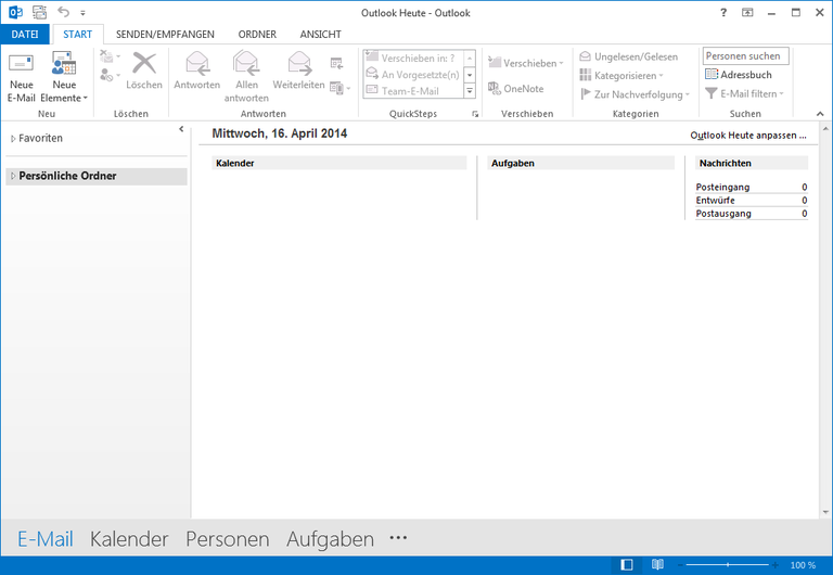01 Outlook 2013 - Manuelle E-Mail Einrichtung - Outlook Heute - Outlook