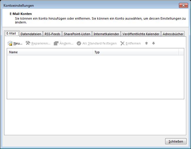 02 Outlook 2013 - Manuelle E-Mail Einrichtung - Kontoeinstellungen