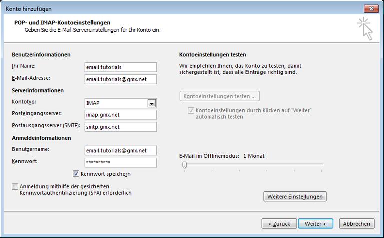 05 Outlook 2013 - Manuelle E-Mail Einrichtung - Konto hinzufuegen (1)