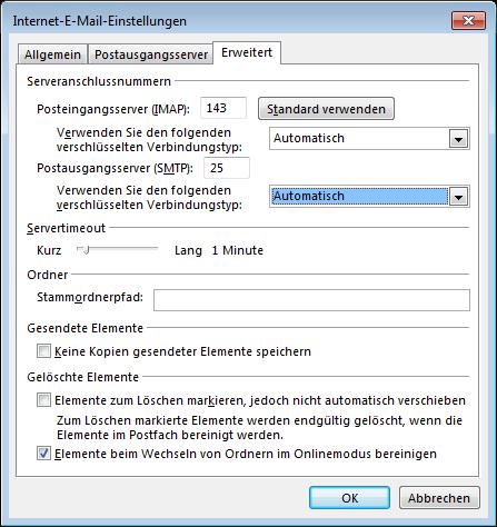 07 Outlook 2013 - Manuelle E-Mail Einrichtung - Internet-E-Mail-Einstellungen