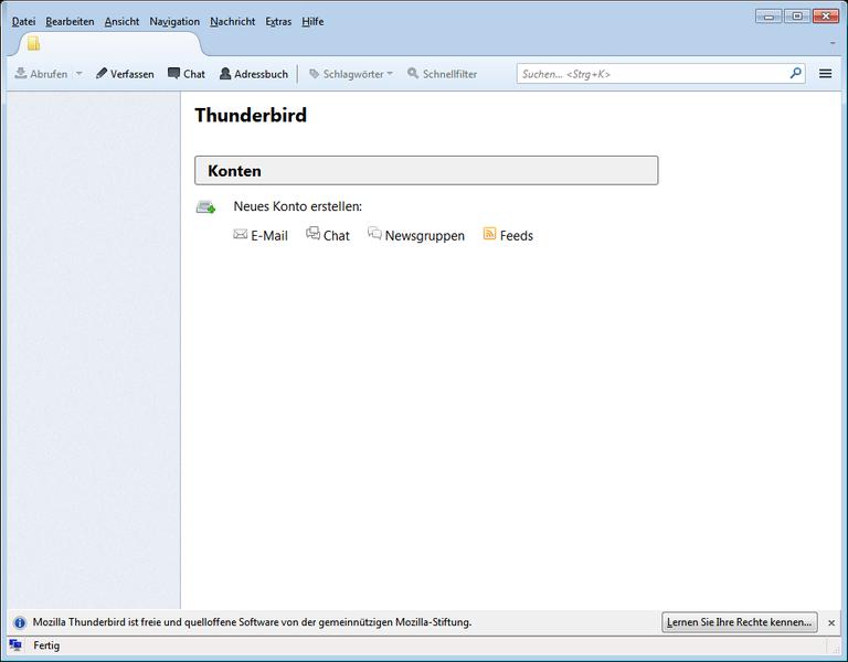 Mozilla Thunderbird Oberflaeche