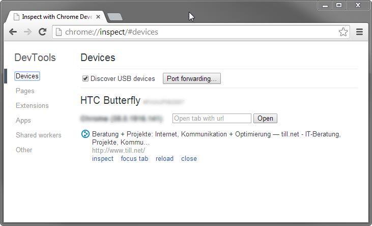 USB Debugging unter Chrome 2