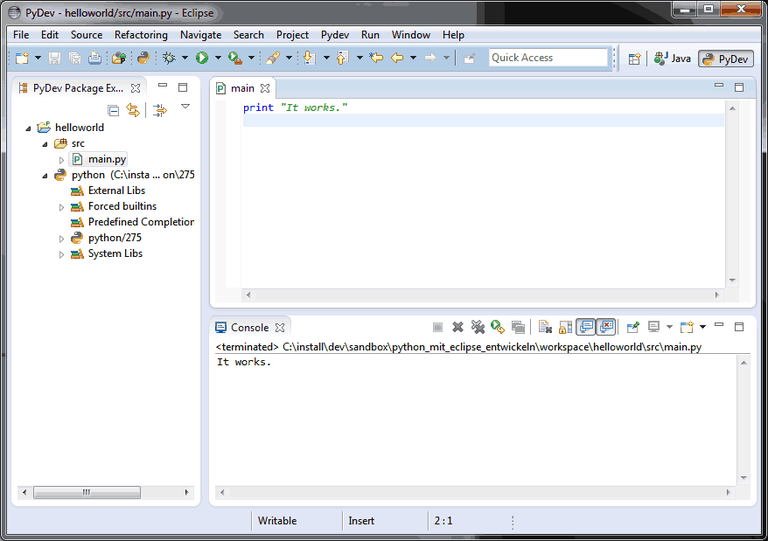 Eclipse IDE Run Script