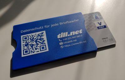 RFID-Schutzkarte schützt gegen das Auslesen von Daten